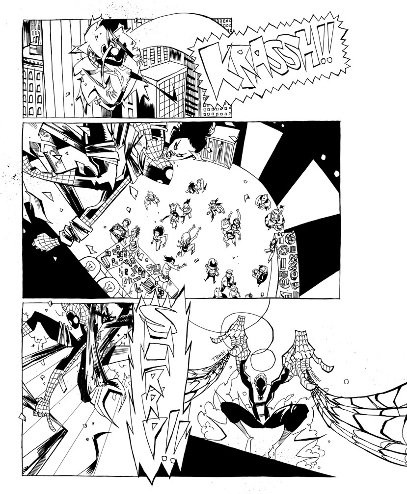 Web of Spider-Man Pg. 8 (over-sized)