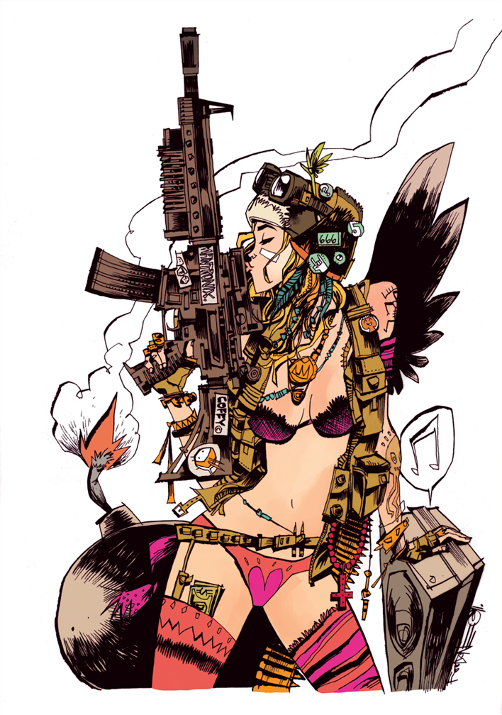 TANK GIRL: KISS THE MACHINE GUN PRINT
