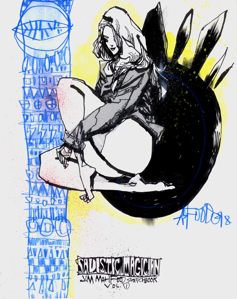 SADISTIC MAGICIAN CUSTOM SKETCH COVER EDITIONS – BLUE LIGHTNING
