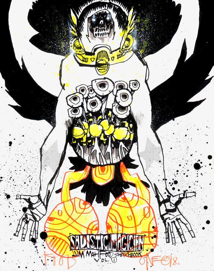 SADISTIC MAGICIAN CUSTOM SKETCH COVER EDITIONS – CAPTAIN SINISTER
