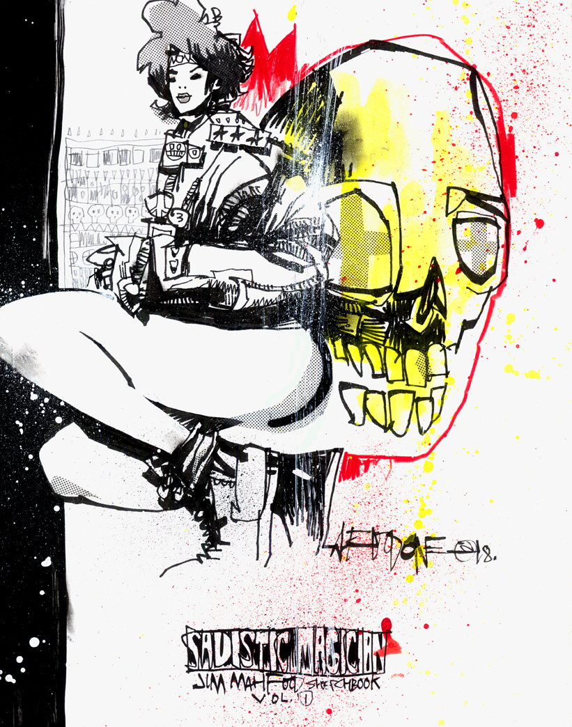 SADISTIC MAGICIAN CUSTOM SKETCH COVER EDITIONS – GOLD SKULL CREW