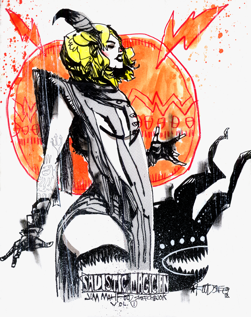 SADISTIC MAGICIAN CUSTOM SKETCH COVER EDITIONS – SORCERESS HORNS