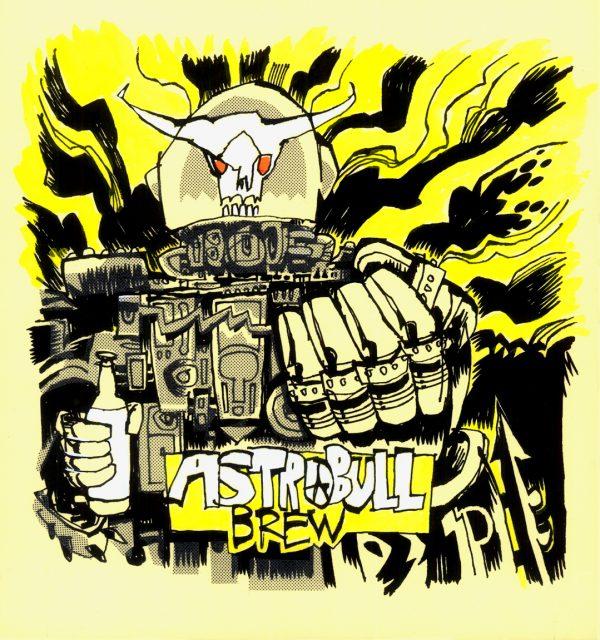 Astrobull Brew Label