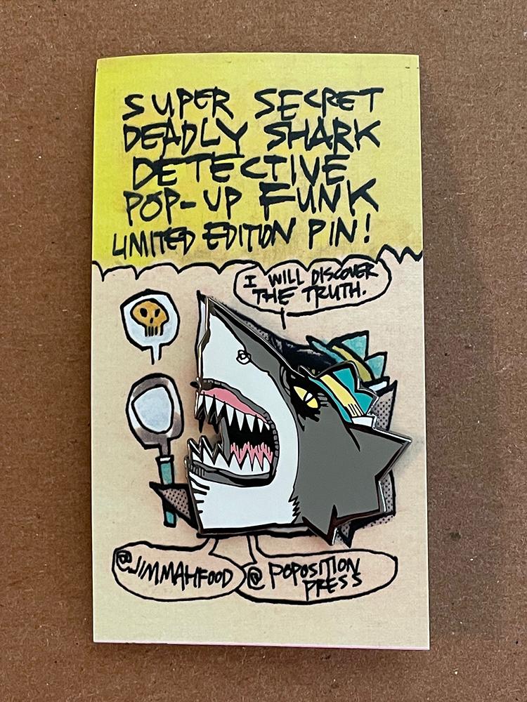 SHARK DETECTIVE PIN